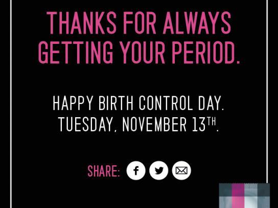 Sir Richard's Condoms Print Ad -  Happy Birth Control Day, 1