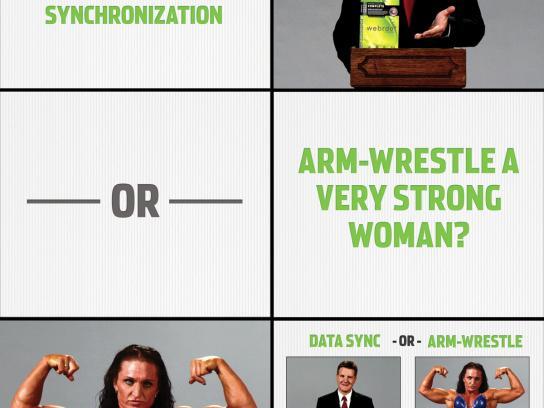 Webroot Digital Ad -  Arm-wrestle