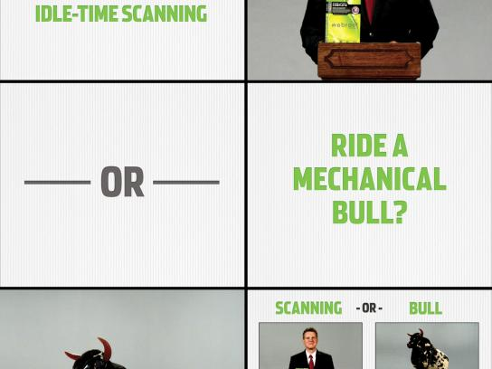 Webroot Digital Ad -  Mechanical bull
