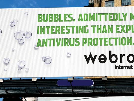 Webroot Outdoor Ad -  Bubbles