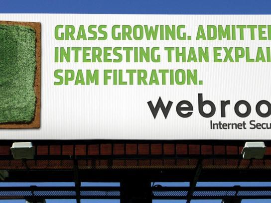 Webroot Outdoor Ad -  Grass growing