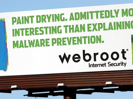 Webroot Outdoor Ad -  Paint drying