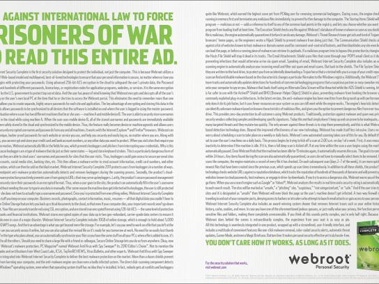 Webroot Print Ad -  Prisoners of war