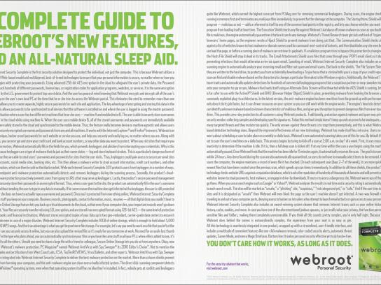 Webroot Print Ad -  New features