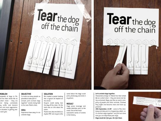 Zerwijmy Lancuchy Outdoor Ad -  Tear the dog off the chain