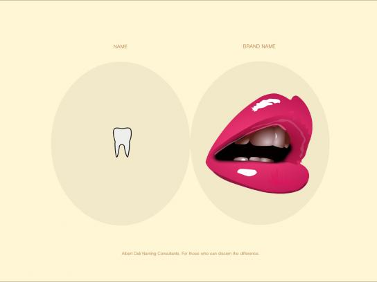 Albert Dali Print Ad -  Name vs Brand Name, Teeth