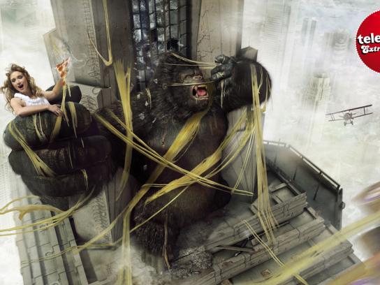 Telepizza Print Ad -  King Kong