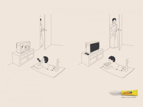 Fevi Kwik Print Ad -  Television