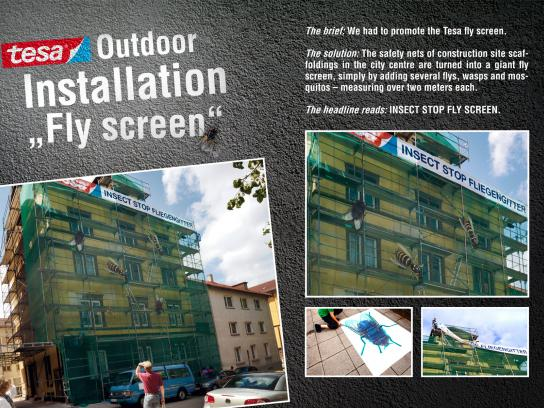 Tesa Ambient Ad -  Fly screen