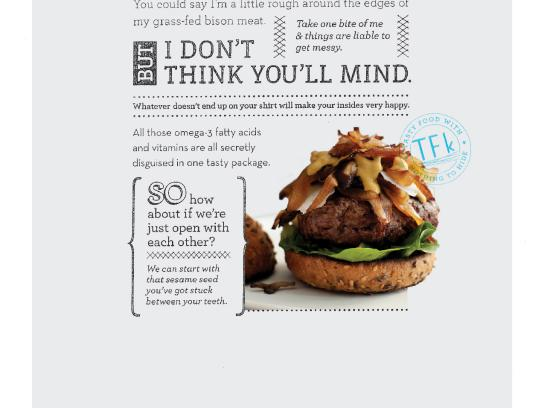 True Food Kitchen Print Ad -  Bison