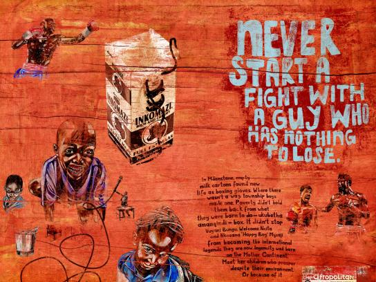 The Afropolitan Print Ad -  Ingenuity-boxing glove