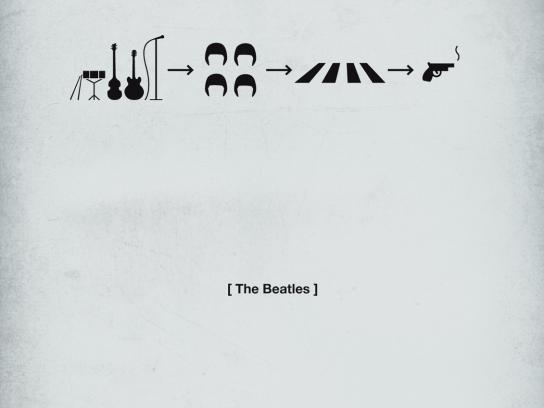 Quercus Books Print Ad -  Life in five seconds, The Beatles