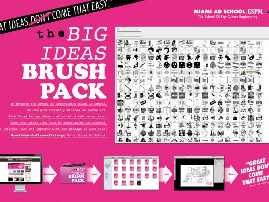 Miami Ad School Digital Ad -  The Big Ideias Brush Pack