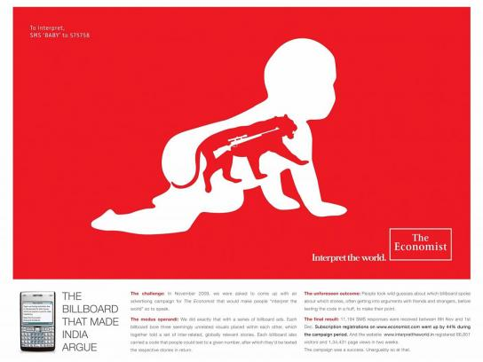 The Economist Outdoor Ad -  Baby