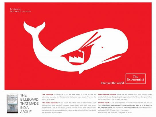 The Economist Outdoor Ad -  Whale