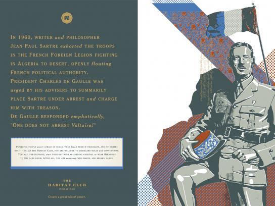 The Habitat Club Print Ad -  Charles de Gaulle