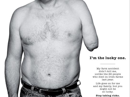 The Health and Safety Authority Print Ad -  The Lucky One