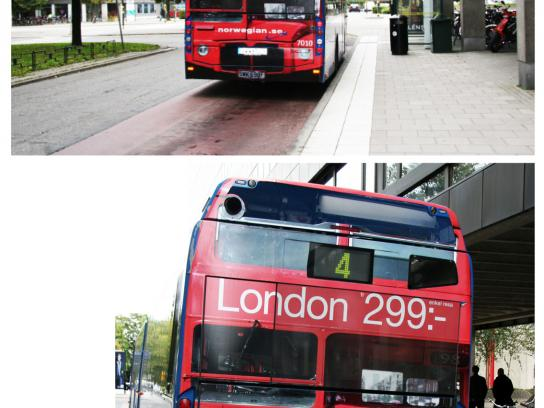 Norwegian Outdoor Ad -  The London Bus