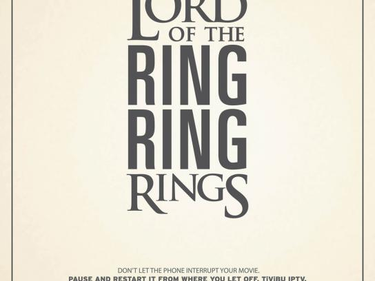Tivibu Print Ad -  The Lord of the Rings