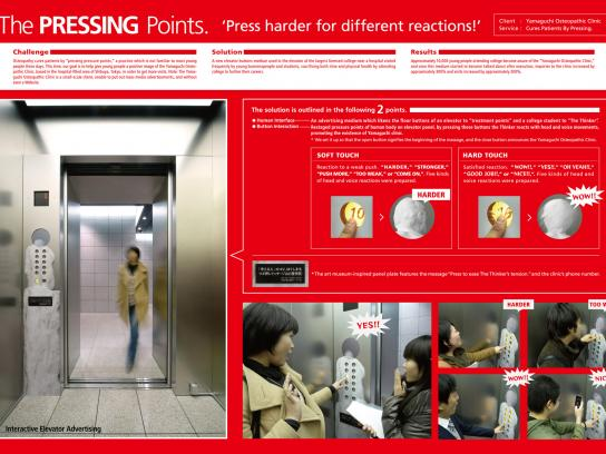Yamaguchi Osteopathic Clinic Ambient Ad -  The pressing points