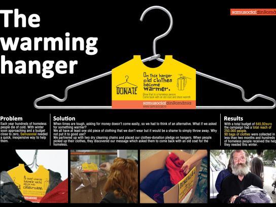 Samusocial Ambient Ad -  The warming hanger