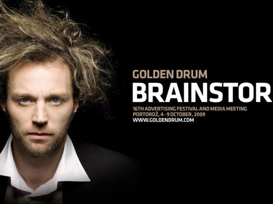 Golden Drum Print Ad -  Brainstorming, 1