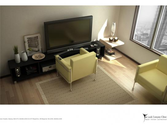 The Lasik Surgery Clinic Print Ad -  Living room