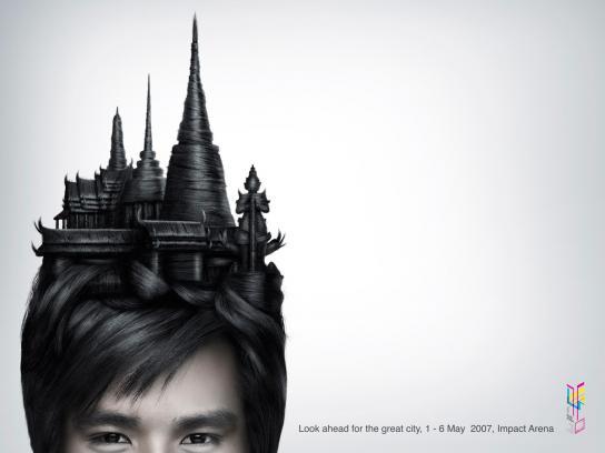 Thai temple hair
