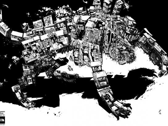 The North Face Print Ad -  Escape the city, 1