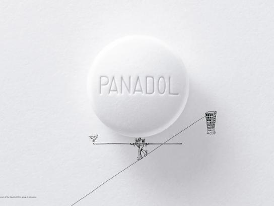 Panadol Print Ad -  Tightrope Performer