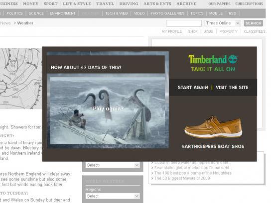 Timberland Digital Ad -  Delirium