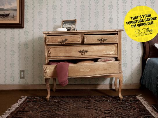 Lar Center Print Ad -  Tired Furniture, 1