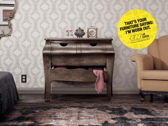 Lar Center Print Ad -  Tired Furniture, 2