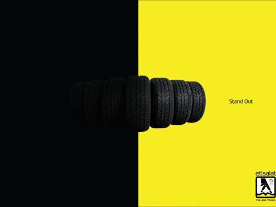 Yellow Pages Print Ad -  Stand Out, Tires