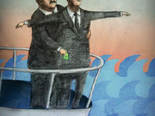 Drąsus žodis Print Ad -  Titanic