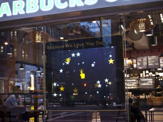 Starbucks Outdoor Ad -  Interactive Storefront