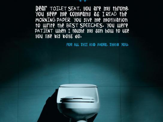 Wadih Jreissati and Sons Print Ad -  Toilet seat