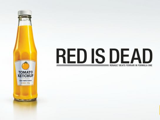 Renault Print Ad -  Red is Dead, Tomato Ketchup