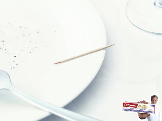 Colgate Print Ad -  Toothpick