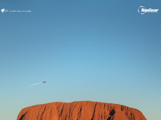 Top Gear Print Ad -  Uluru