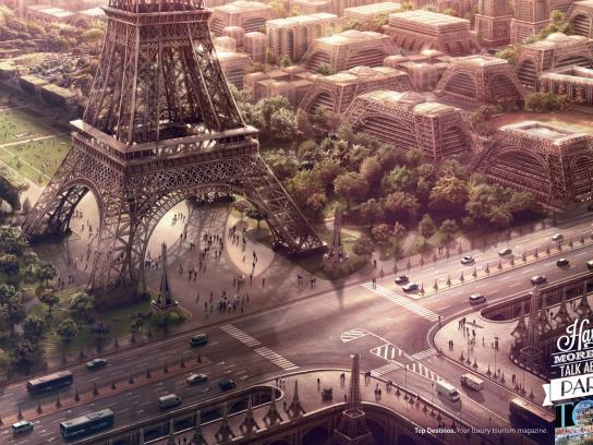 Top Destinos Print Ad -  Eiffel Tower