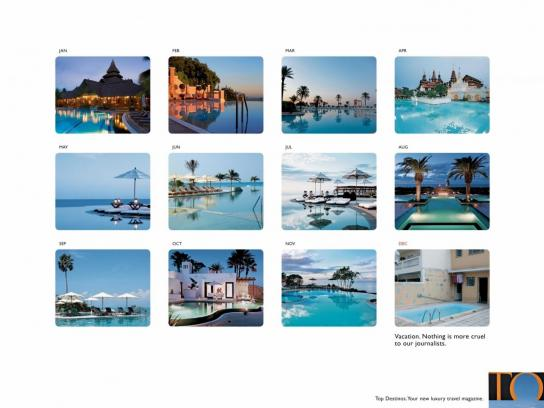 Top Destinos Print Ad -  Swimming Pools