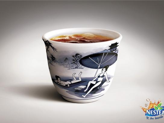 Nestea Print Ad -  Chinese cups, Topless