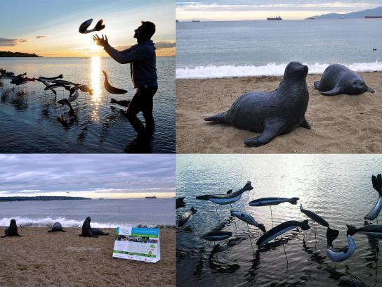 Vancouver Aquarium Ambient Ad -  Ocean Life Installation