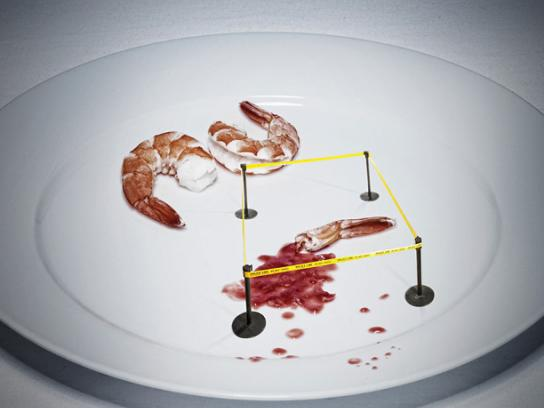 Crime Stoppers Print Ad -  Shrimp