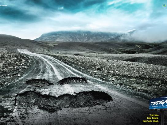 Tortuga Print Ad -  Face any road, 2