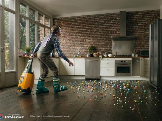 Totalgaz Print Ad -  Marbles