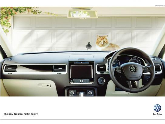 Volkswagen Print Ad -  Cat & Bird