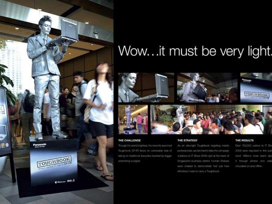 Toughbook Ambient Ad -  Human statues
