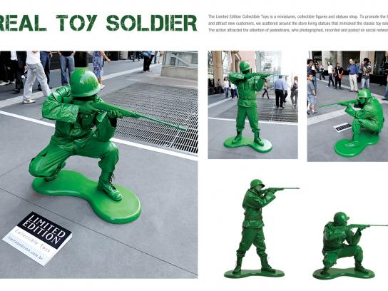 Limited Edition Collectible Toys Ambient Ad -  Real Toy Soldier